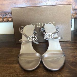 Gucci Satin Sandals